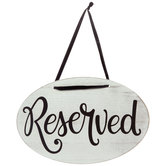 Reserved Wood Wall Decor
