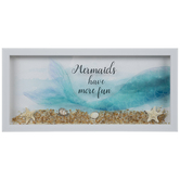 Mermaids Have More Fun Framed Wall Decor