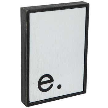 Lowercase Letter Wood Wall Decor - E