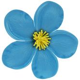 Bright Blue Plumeria Flower Adhesive Wall Decor