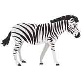 Zebra Painted Wood Shape