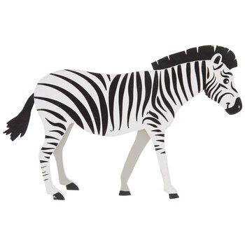 Zebra Painted Wood Shape