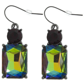 Multi-Color Plated Hematite Earrings