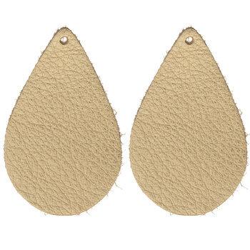 Metallic Gold Teardrop Leather Blanks