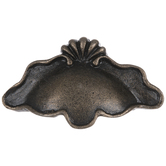 Antique Bronze Scalloped Metal Cup Pull