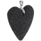 Black Heart Lava Pendant
