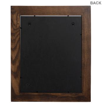 Dark Walnut Beveled Wood Wall Frame