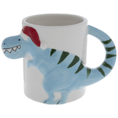 Blue Christmas Dinosaur Mug