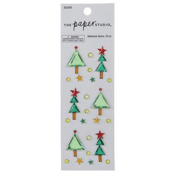 Christmas Tree Rhinestone Stickers