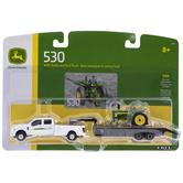 John Deere Model Tractor & Pick Up Truck