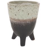 Beige & Brown Two Tone Vase