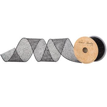 "Glitter Wired Edge Ribbon - 2 1/2"""