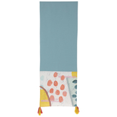 Blue Abstract Dots Table Runner