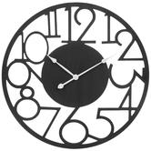 Black Comical Cutout Wood Wall Clock