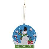 Snowman Snow Globe Ornament Foam Craft Kit