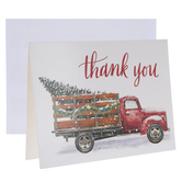 Red Truck Thank You Cards