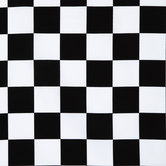 Black & White Check Cotton Calico Fabric - 2 1/2""