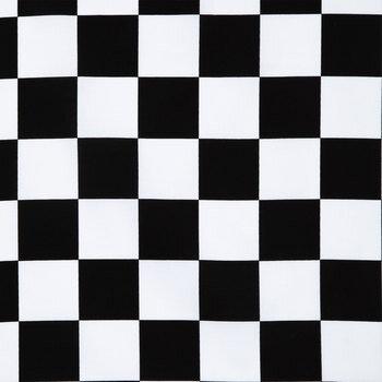 """Black & White Check Cotton Calico Fabric - 2 1/2"""""""