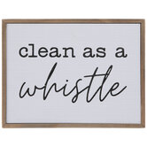 Clean As A Whistle Wood Decor