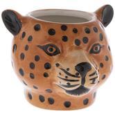 Leopard Head Flower Pot