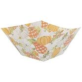 Orange & Cream Pumpkins Paper Bowls