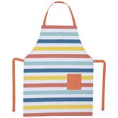Multi-Color Striped Apron