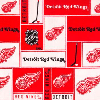 NHL Detroit Red Wings Block Fleece Fabric