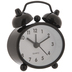 Black Mini Metal Alarm Clock