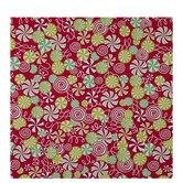 Red & Green Pinwheel Candies Gift Wrap