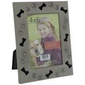 """Dog Icons Metal Frame - 4"""" x 6"""""""