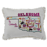 Oklahoma The Sooner State Pillow