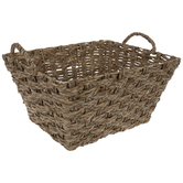Rectangle Wicker Basket With Handles