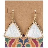 Imitation Opal Triangle Earrings