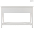 White Wood Console Table With Drawers