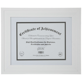 "White Stepped Document Frame - 11"" x 8 1/2"""