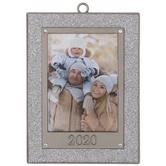 Silver Glitter 2020 Frame Ornament