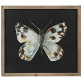 Brown & White Butterfly Wood Wall Decor