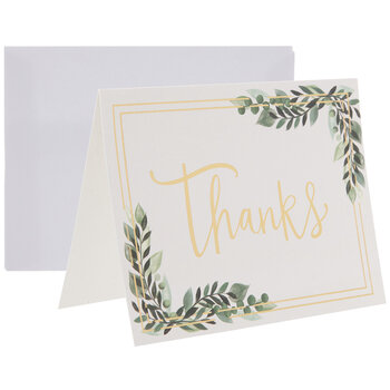 Green & Gold Thank You Cards