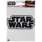 Black & White Star Wars Logo Iron-On Applique
