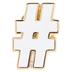 White Hashtag Metal Pin