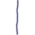 Blue & Black Gemcut Glass Bead Strand