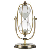 Antique Brass Revolving Hourglass