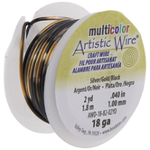 Metallic & Black Artistic Wire - 18 Gauge