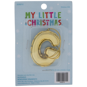 Gold Balloon Letter Ornament - G