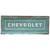 Chevrolet Rusted Tailgate Metal Sign