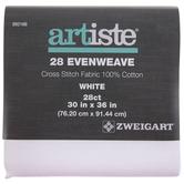 """White 28-Count Evenweave Cross Stitch Fabric - 30"""" x 36"""""""
