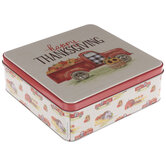Happy Thanksgiving Truck Tin box