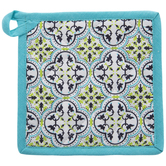 Turquoise & Green Tile Pot Holder