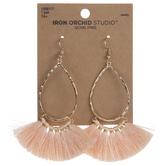 Teardrop Thread Tassel Earrings