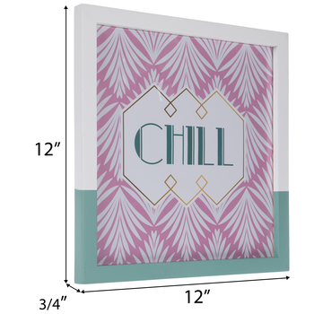 """Chill Palm Leaves Wall Frame - 10 3/8"""" x 10 3/8"""""""